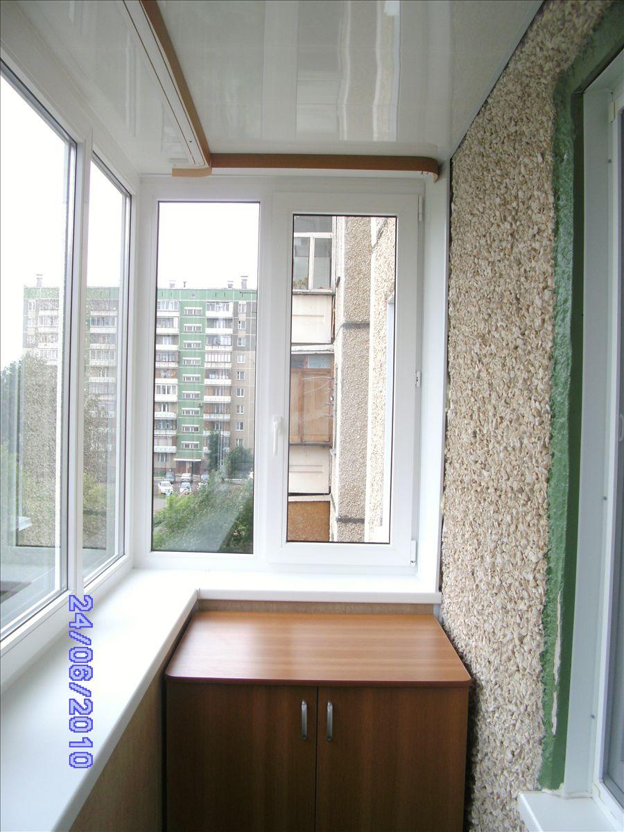 Пластик отделка балконов в