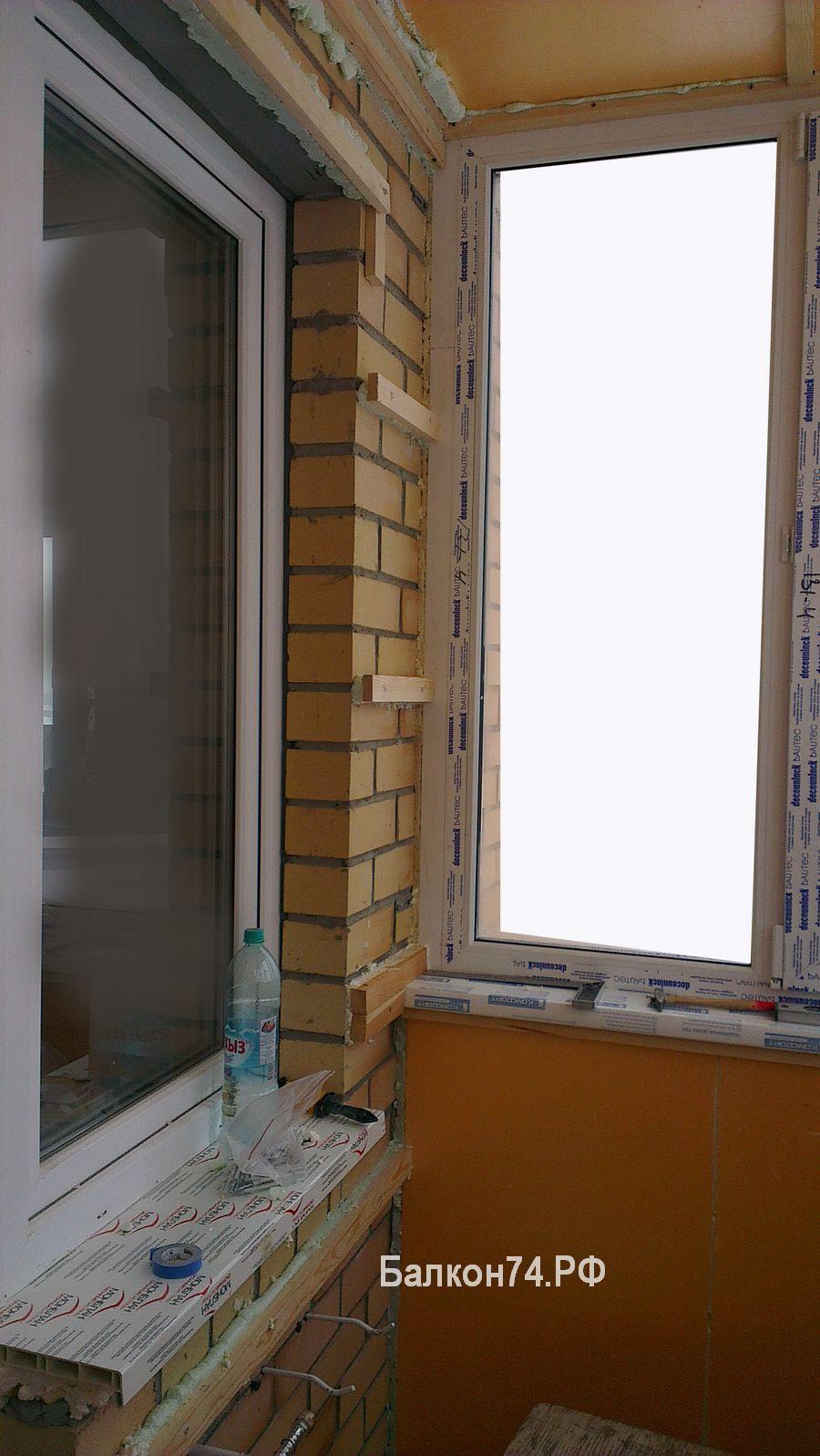 монтаж утепление балкона