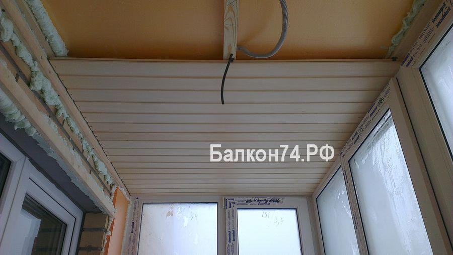 Балкон внутренняя отделка вагонка из пластика обрешетка..