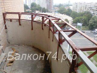 Балкон с выносом цены в Челябинск.